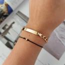 Großhandel Schmuck & Uhren: Chirurgisches Armband aus vergoldetem Stahl