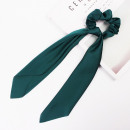 Hair elastic scarf long bottle green PIN