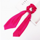 Elastic hair scarf long fuchsia PIN UP GUM5F
