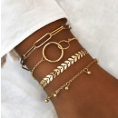 A set of 4in1 bracelets BOHO B478