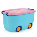 Organizer for toys with blue OR17N wheels