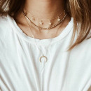 Delicate long delicate necklace N706