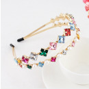 wholesale Drugstore & Beauty: Gold hair band with O305 crystals