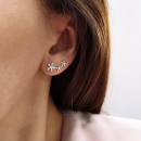 Gold-plated stainless steel earrings