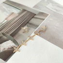 mayorista Joyas y relojes: Pendientes de acero quirúrgico chapado en oro.
