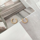 Gold plated earrings made of stainless steel
