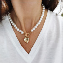 ARTIFICIAL PEARL NECKLACE with heart N716