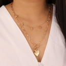 Delicate double necklace N721