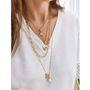 Delicate quadruple necklace N723