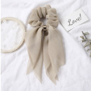 Elastic hair scarf short cream PIN UP GUM3