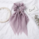Elastic hair scarf short lavender PIN UP GUM3