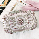 Evening purse, pink with crystals