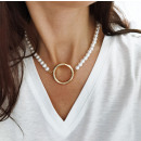 wholesale Necklaces: ARTIFICIAL PEARL NECKLACE with wheel N709