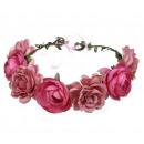 Wreath headband wreath rich flowers W77F