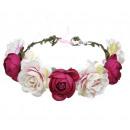 Wreath headband wreath rich flowers W77FB