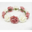 Wreath headband wreath rich flowers W81R