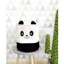 Toy container, basket, laundry bag panda