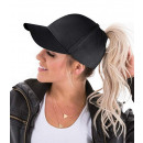 wholesale Headgear: PONYTAIL women's cap BLACK C
