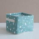 Basket for toys, laundry bag turquoise O