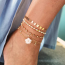 Bracelet on the foot 5in1 gold beads B5 pearls
