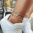 Bracelet on the foot 4in1 gold beads B524