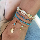 5in1 gold bracelet with blue beads