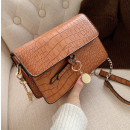 Handbag made of eco-leather caramel T220KAR