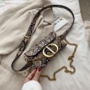 wholesale Bags & Travel accessories: Women's waist bag - brown snak leatherette bel