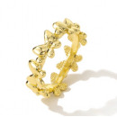 wholesale Rings: Gold-plated ring, adjustable in surgical steel