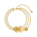 Stainless steel bracelet plated with gold p