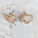 Gold-plated KST1749 earrings made of surgical stee
