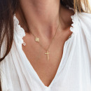 Steel necklace plated with 14 carat NST gold