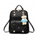 wholesale Backpacks: BACKPACK WITH MISS - BLACK PL29CZ