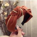 grossiste Accessoires cheveux: Turban bande en matériau épais O219POM plaqué or