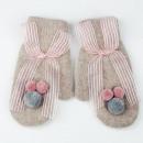 wholesale Gloves: CUTE BOW PINK REK123 GLOVES