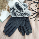 wholesale Gloves: glam gloves artificial fur material touches