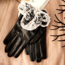wholesale Gloves: Gloves GLAM ARTIFIC FURS BLACK REK 116