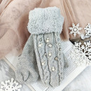 Großhandel Handschuhe: HANDSCHUHE MIT GRAUEM SCHLOSS