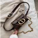 wholesale Bags & Travel accessories: Women's waist bag - brown eco-leather belt T22