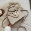 Faux leather handbag cream T226BR