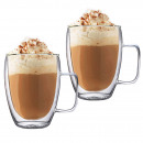 wholesale Household & Kitchen: THERMAL GLASSES 350ML FOR LATTE LONG COFFEE SET