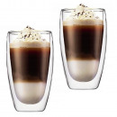 wholesale Home & Living: THERMAL GLASSES 450ML FOR LATTE LONG COFFEE SET