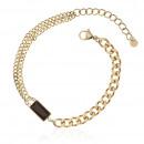 groothandel Sieraden & horloges: Vergulde chirurgisch stalen armband B