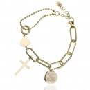 wholesale Jewelry & Watches: Gold-plated surgical steel bracelet B