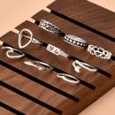 Großhandel Schmuck & Uhren: Set mit 9 Goldringen PE60