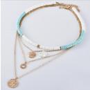 Großhandel Schmuck & Uhren: Lange Multi-Halskette N757