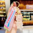 wholesale Dolls &Plush: Key ring teddy bear TRANSPARENT pink tag
