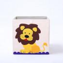 hurtownia Zabawki: Pojemnik na zabawki sztywny, filc, lew OR4WZ12