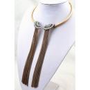 necklace hanging rosettes old gold N37