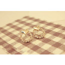 Diamond earrings made of K08 crystals